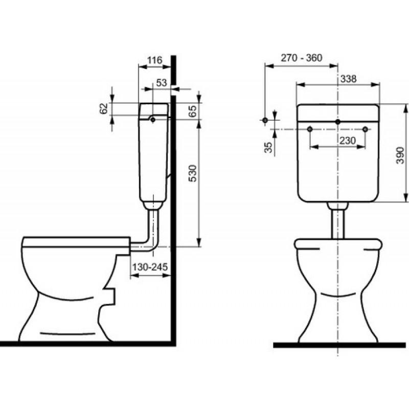 WC splakovalnik SANIT 937 dimenzije