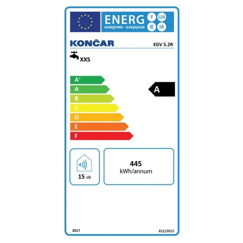 Energijska nalepka KONČAR EGV 5.2 R