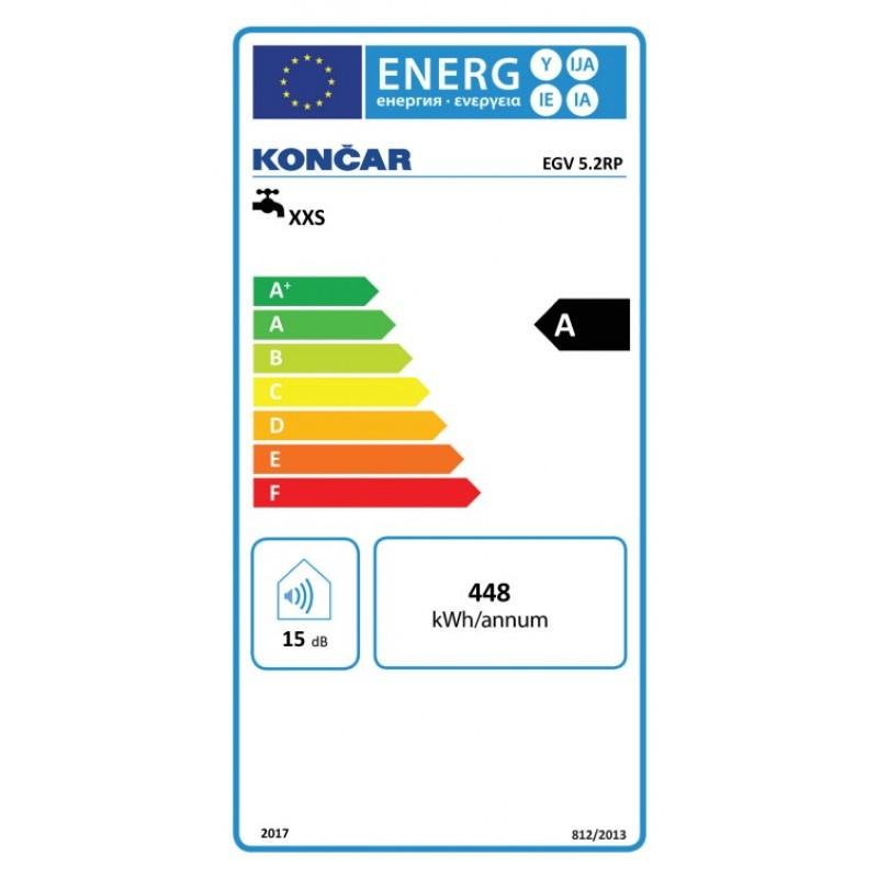 Energijska nalepka KONČAR EGV 5.2 RP
