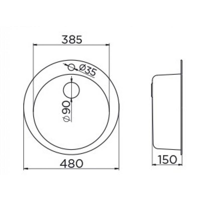 METALAC VENERA 480E dimenzije