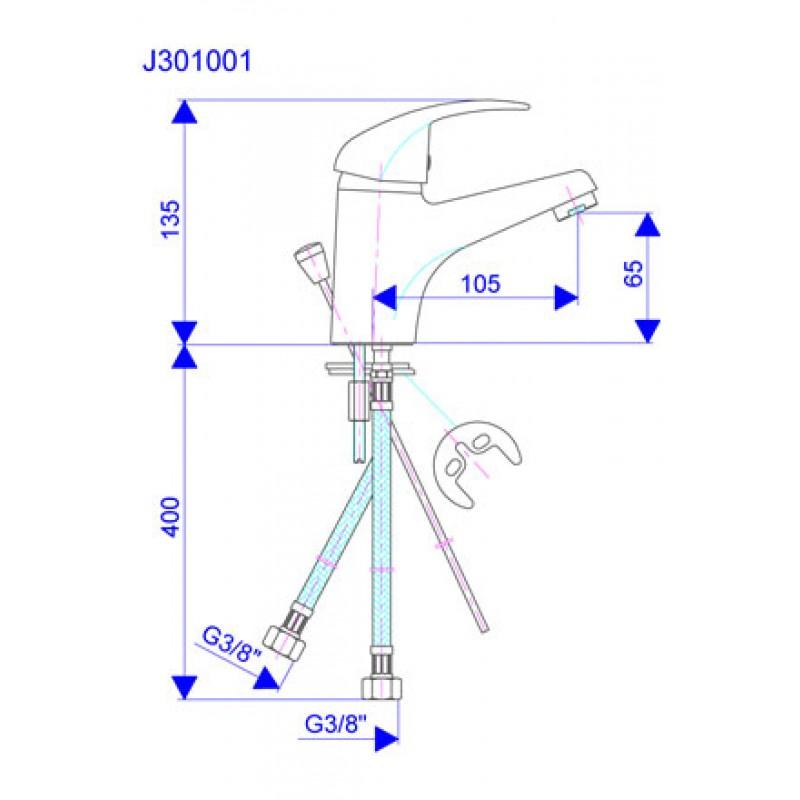 KING J301001 - tehnična skica