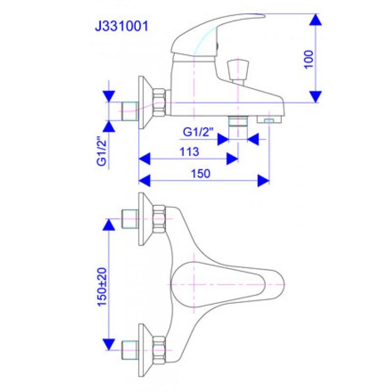 KING J331001 - tehnična skica