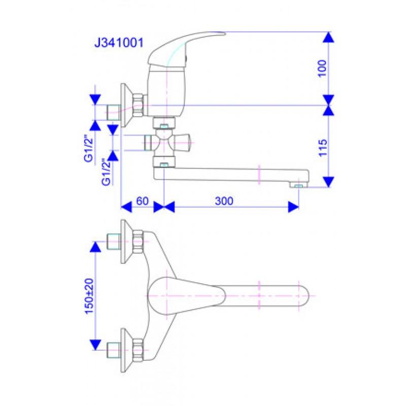 KING J341001 - tehnična skica