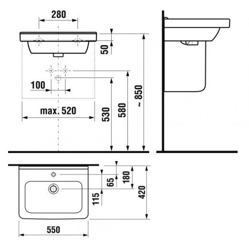 JIKA CUBITO 810422 tehnična skica