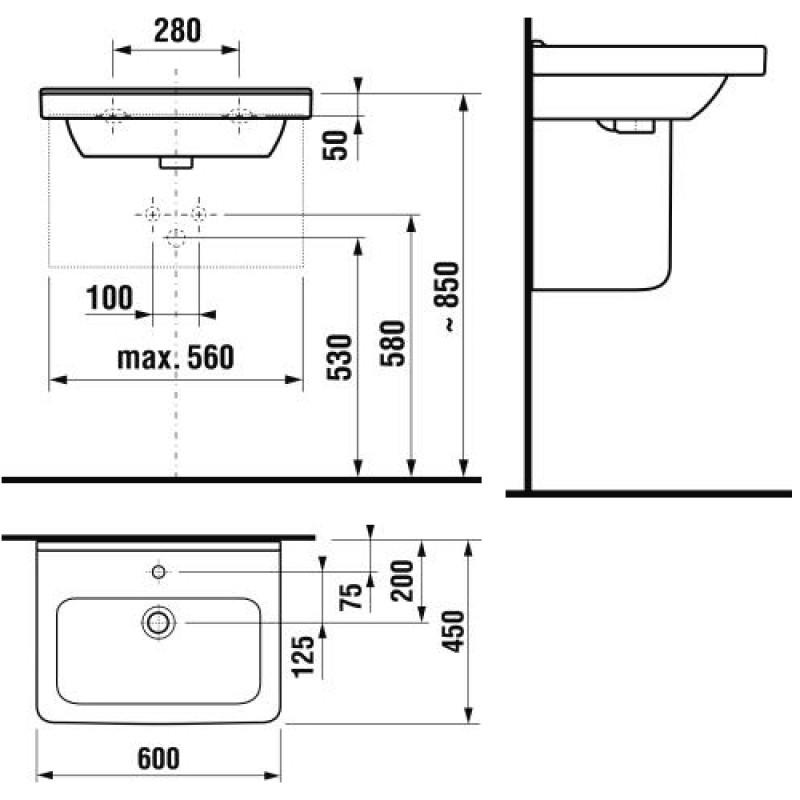 JIKA CUBITO 810423 tehnična skica