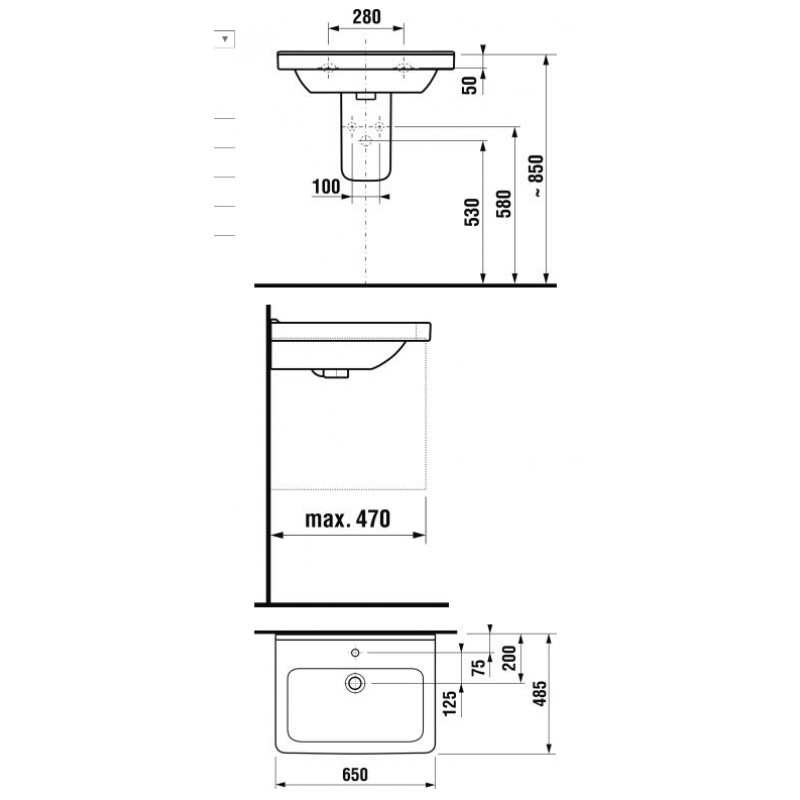 JIKA CUBITO 810424 tehnična skica