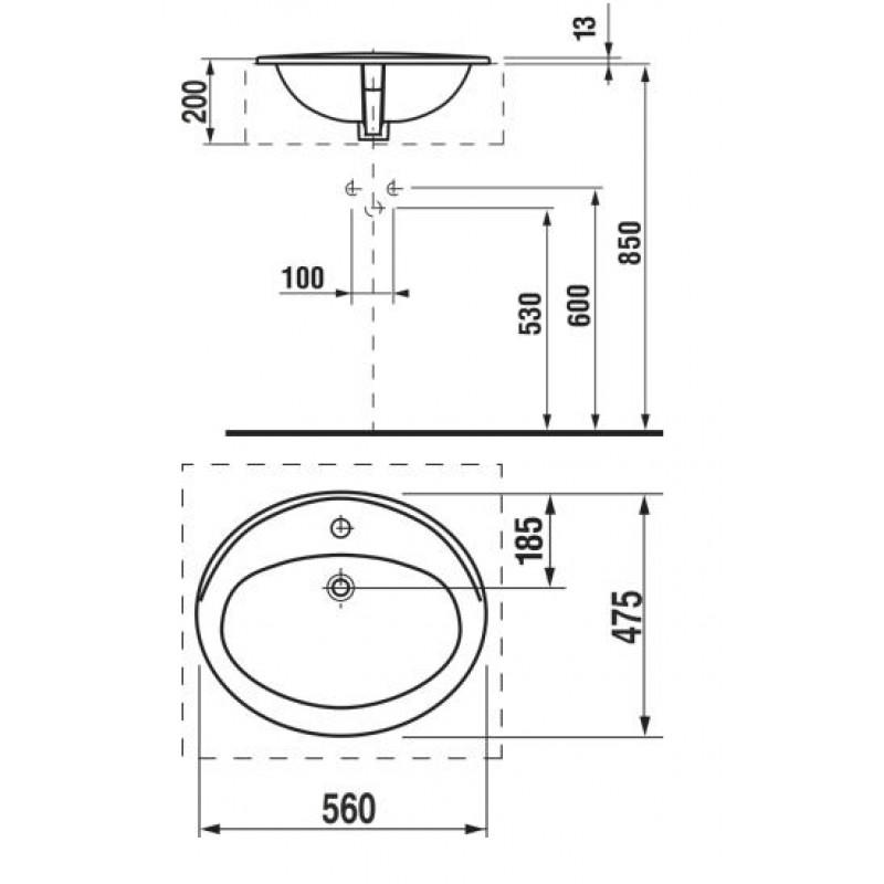 JIKA IBON 813011 tehnična skica