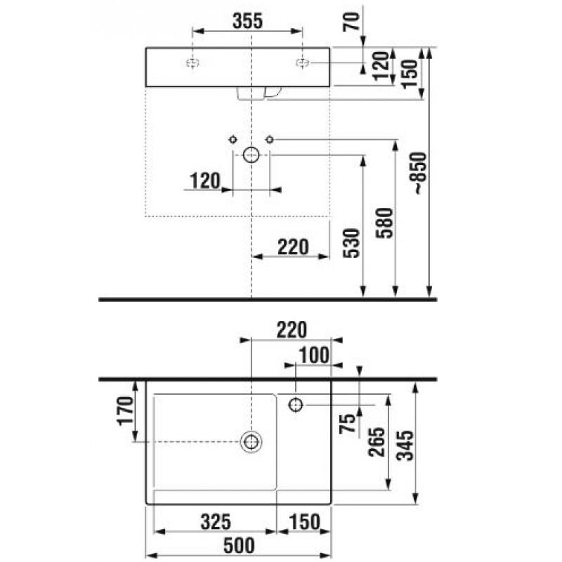 JIKA PURE 813421 tehnična skica