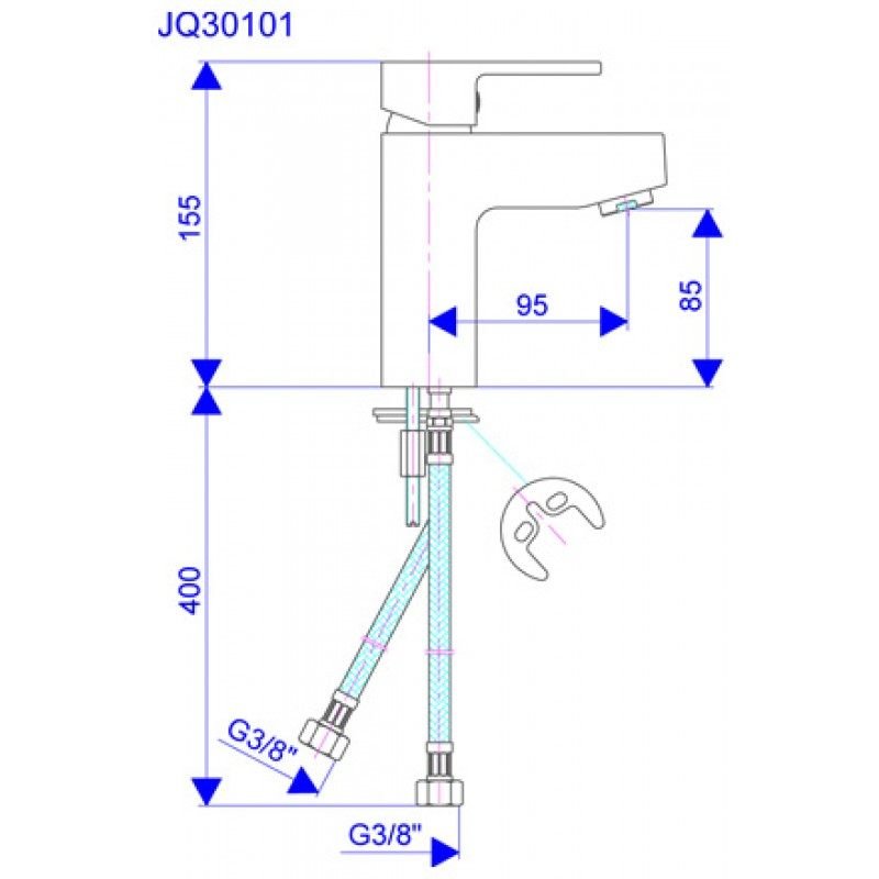 QUADRO JQ30101 - tehnična skica