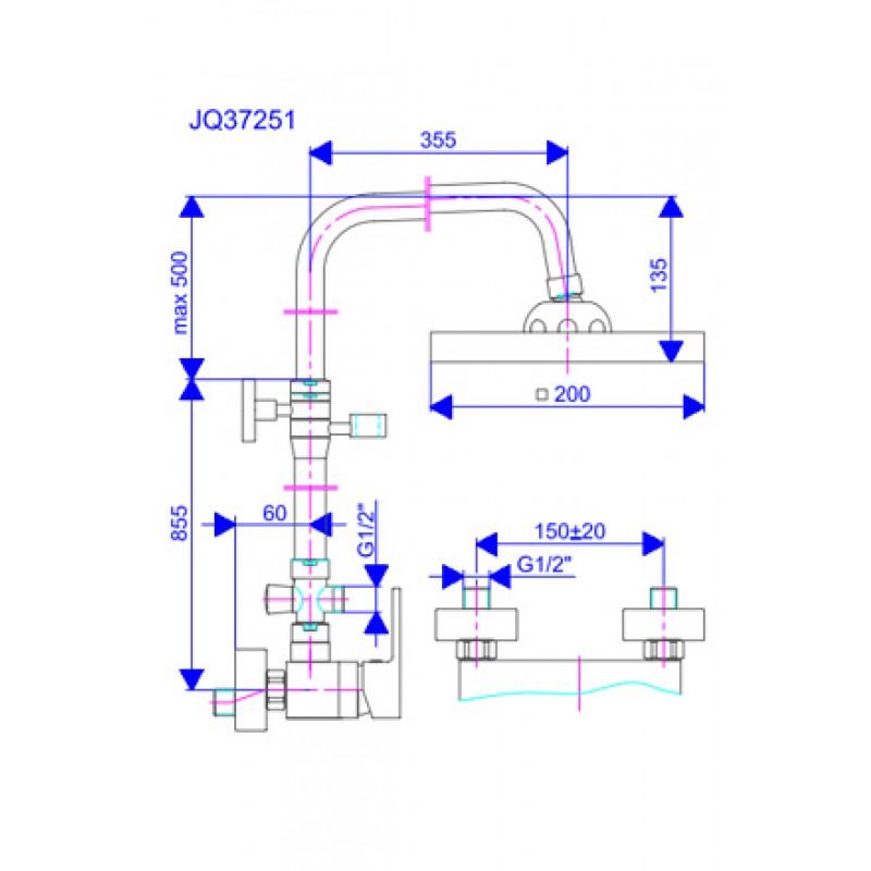 QUADRO JQ37251 - tehnična skica