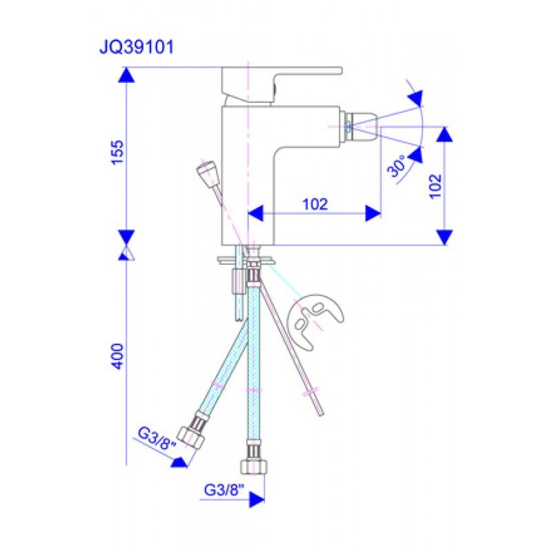 Baterija JQ39101 - tehnična skica