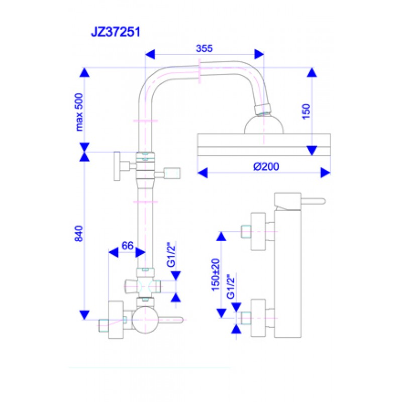 JZ37252 - tehnična skica