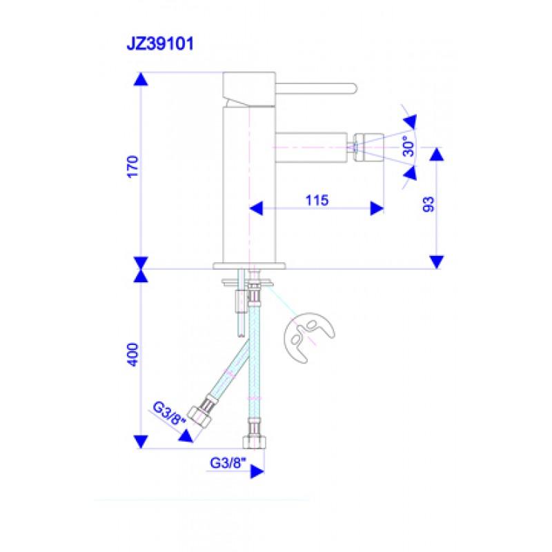 JZ39101 - tehnična skica