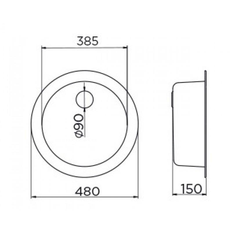 METALAC VENERA 480C (049344) dimenzije