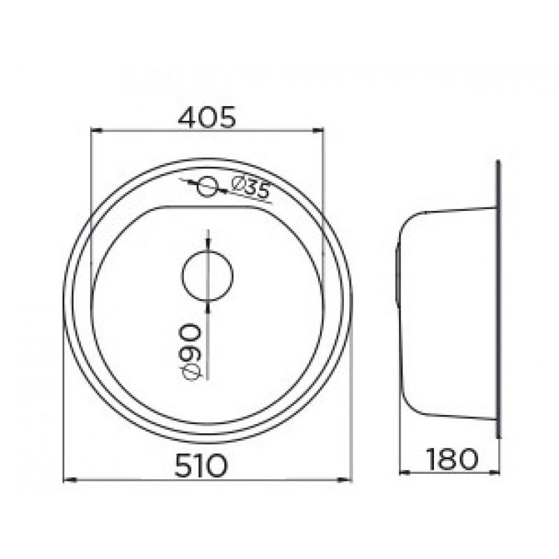 METALAC VENERA 510C (099517) dimenzije