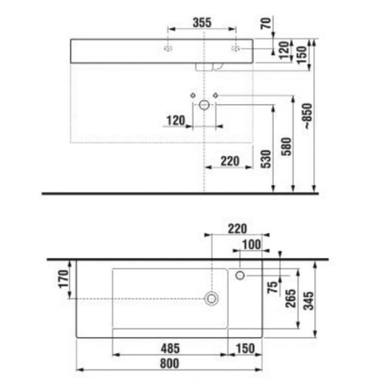 JIKA PURE 813423 tehnična skica