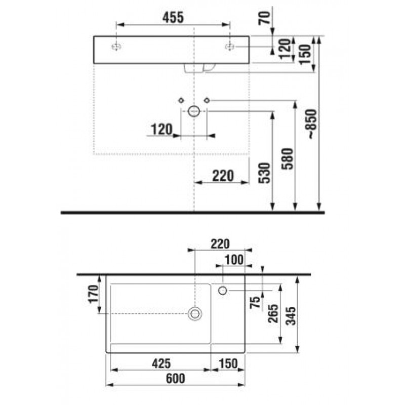 JIKA PURE 813422 tehnična skica