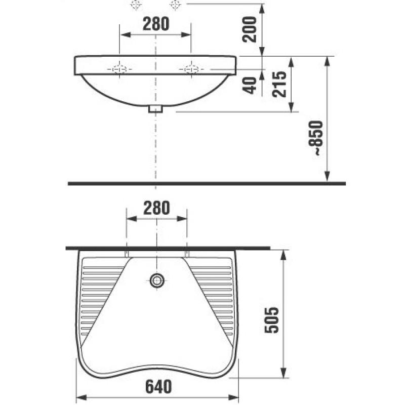 Umivalnik ZITA tehnične specifikacije