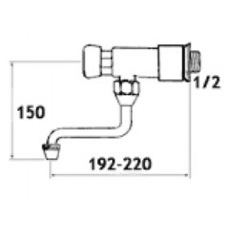 Ventil na pritisk Tremolada 462ARG - tehnična skica
