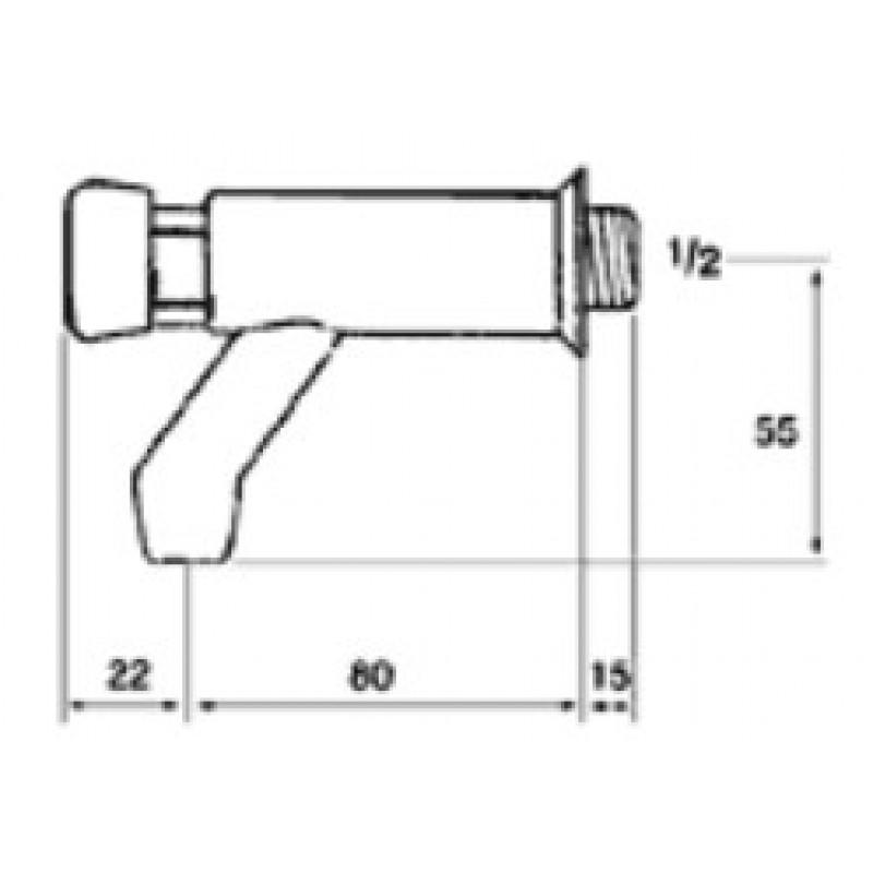 Ventil na pritisk Tremolada 462RG - tehnična skica