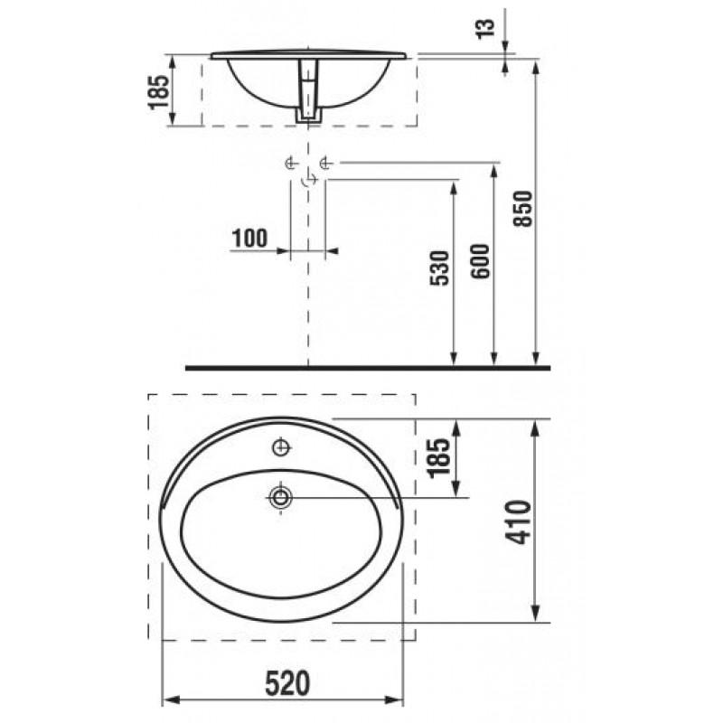 JIKA IBON 813010 tehnična skica