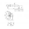 Črna podometna armatura za tuš kad ROSAN DARK JD31601 - tehnična skica