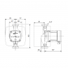 Grundfos ALPHA2 L 32-60 tehnična skica