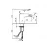 Armatura za bide STOLZ BLACK 139101B - tehnična skica