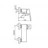 Armatura za tuš kad STOLZ BLACK 137101B - tehnična skica