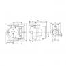 Grundfos MAGNA1 32-120 F tehnična skica